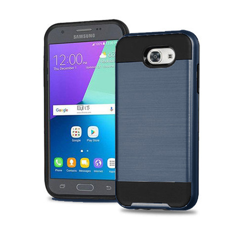slim jacket hybrid case for samsung galaxy j710 storm blue-black