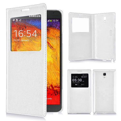classic s view cover case for samsung galaxy note 4 white