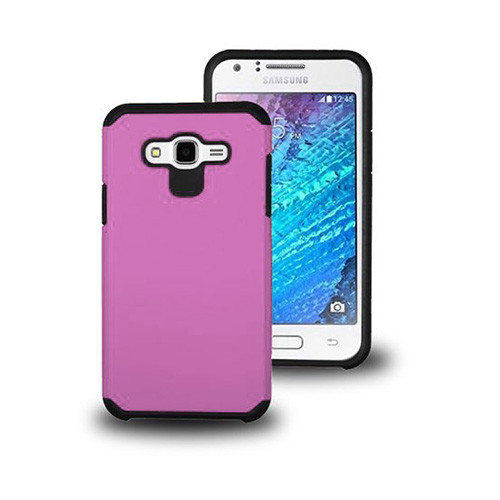 thin shell hybrid case for samsung galaxy note 5 hot pink-black