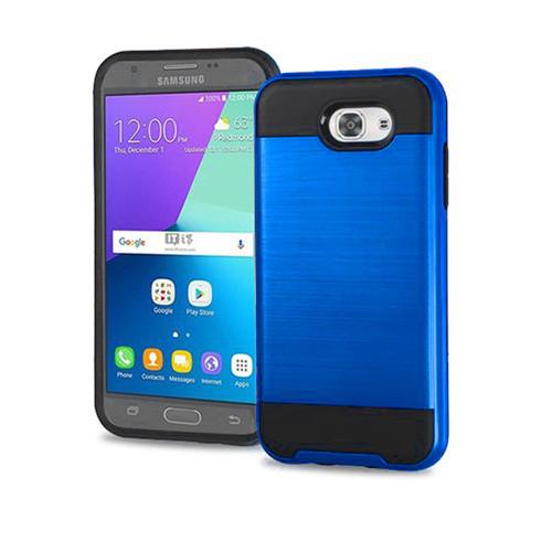 slim jacket hybrid case for samsung galaxy note 5 metallic blue-black