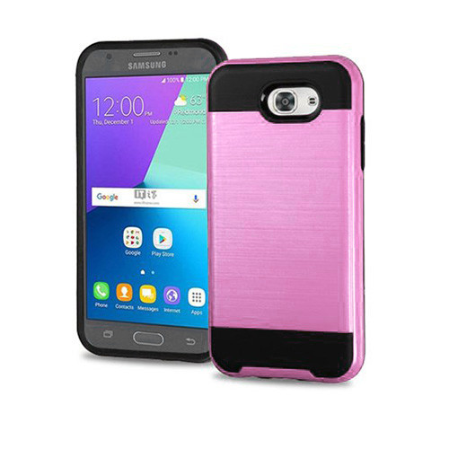 slim jacket hybrid case for samsung galaxy note 5 pink-black