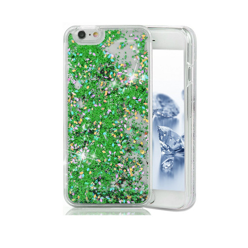 Liquid Glitter Snap On PC Case for Samsung Galaxy Note 5 Green