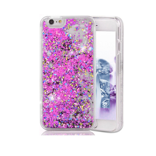 Liquid Glitter Snap On PC Case for Samsung Galaxy Note 5 Pink