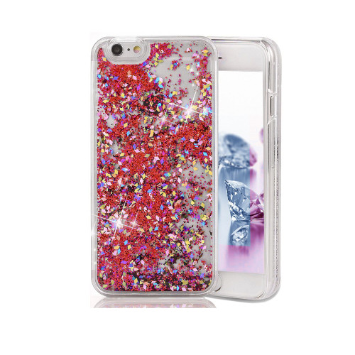 Liquid Glitter Snap On PC Case for Samsung Galaxy Note 5 Red