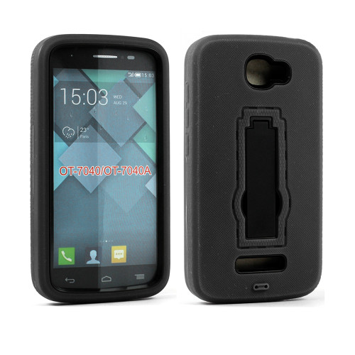 Shockproof Guard Case with Kickstand for Samsung Galaxy ON5 G550 Black-Black