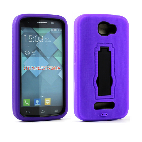 Shockproof Guard Case with Kickstand for Samsung Galaxy ON5 G550 Purple-Black