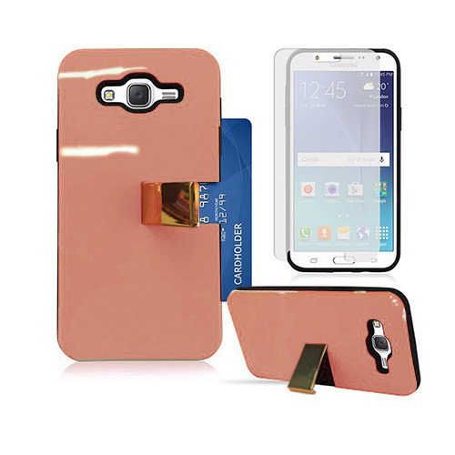 Deluxe ID Hybrid Case with Kickstand for Samsung Galaxy ON5 G550 Rose Gold-Black
