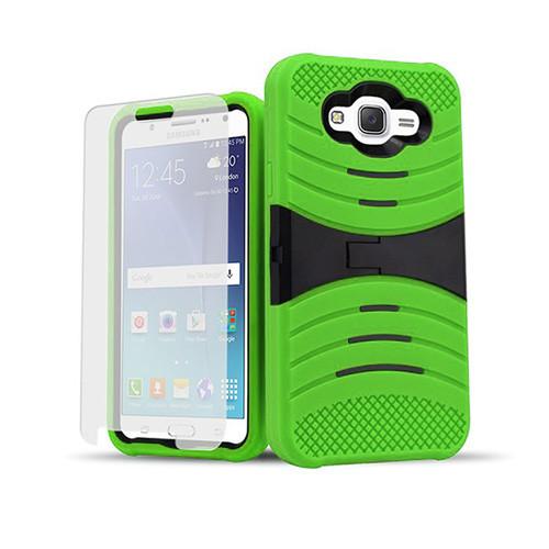 ultra rigid guard case with kickstand for samsung galaxy s4 green-black