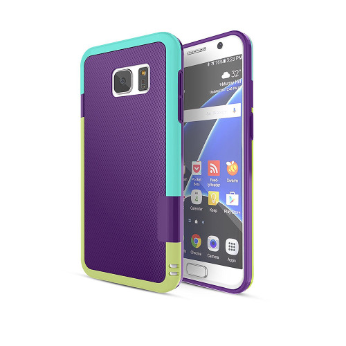 stylish tpu case for samsung galaxy s4 purple-aqua-green