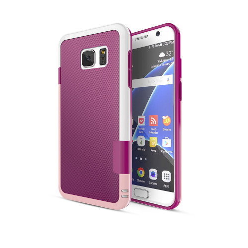 stylish tpu case for samsung galaxy s5 burgundy-pink-white