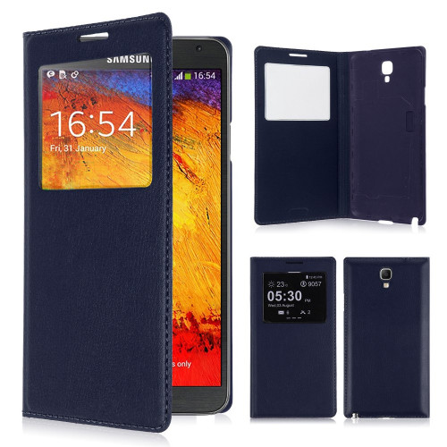 classic s view cover case for samsung galaxy s5 navy