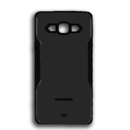 rigid tpu case with plate for samsung galaxy s5 mini black-black