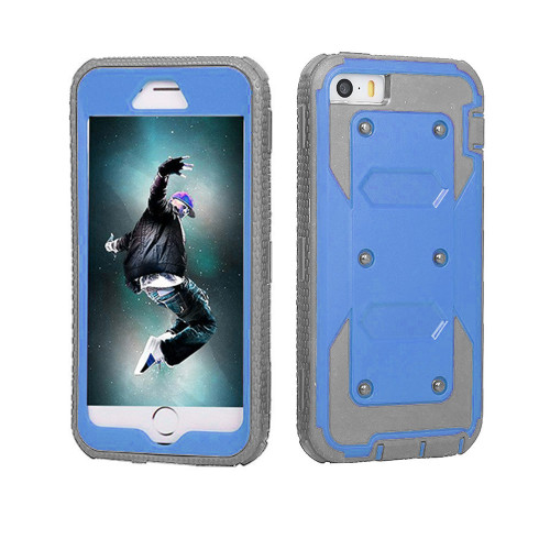 protector guard case for samsung galaxy s6 blue-gray
