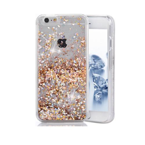 Liquid Glitter TPU Case for Samsung Galaxy S6 Gold