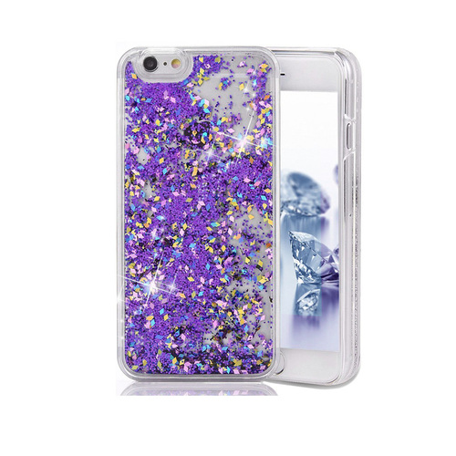 Liquid Glitter TPU Case for Samsung Galaxy S6 Purple
