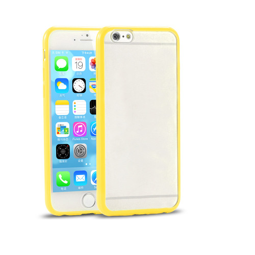 contour hybrid case for samsung galaxy s6 edge plus clear-yellow