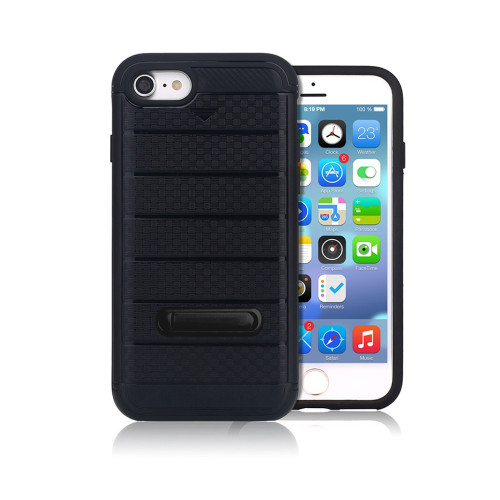 letto hybrid cc case with kickstand for iphone 7/8 black