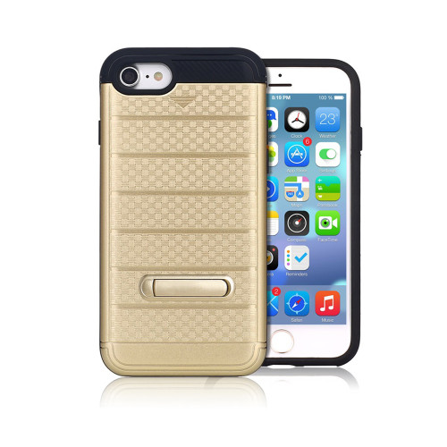 letto hybrid cc case with kickstand for iphone 7/8 gold