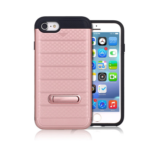 letto hybrid cc case with kickstand for iphone 7/8 rose gold
