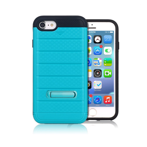 letto hybrid cc case with kickstand for iphone 7/8 aqua