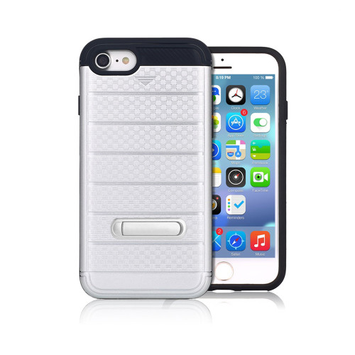 letto hybrid cc case with kickstand for iphone 7/8 plus silver
