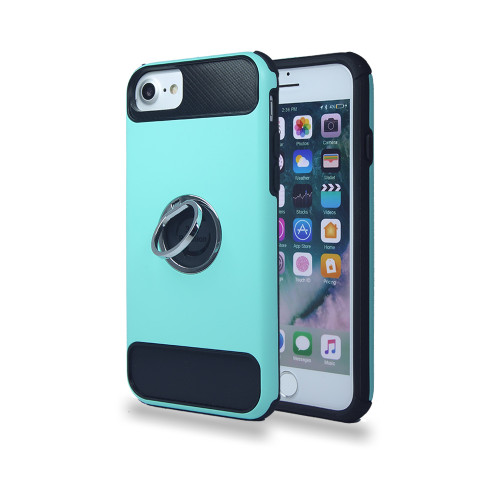 lisse hybrid ring case with kickstand for iphone 7/8 mint-black