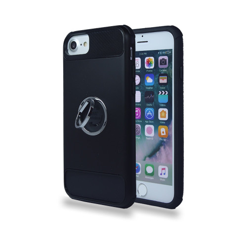 lisse hybrid ring case with kickstand for iphone 6 plus black-black