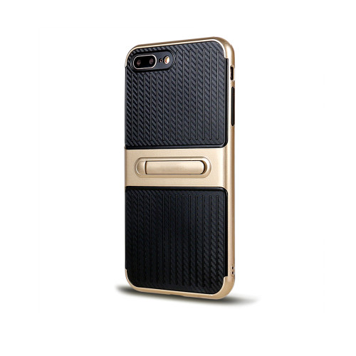 Traveler Hybrid Case with Kickstand for Samsung S7 Gold