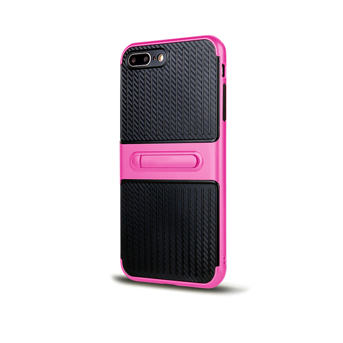 Traveler Hybrid Case with Kickstand for Samsung S7 Edge Hot Pink