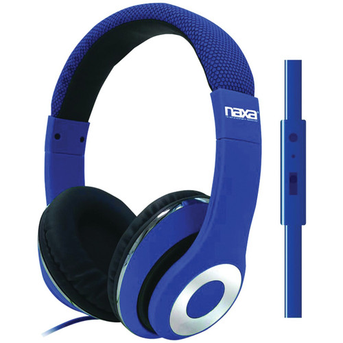Naxa backspin Pro headphoneswith mic BLUE