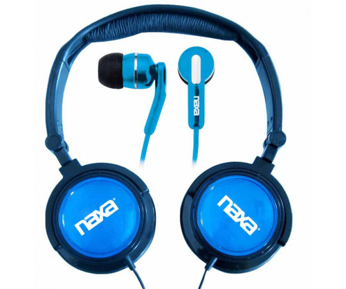 Naxa DJ Z Ultra headset combo kit BLUE