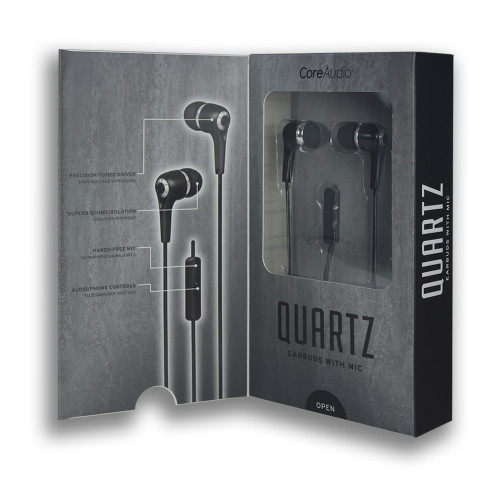 CoreAudio Quartz Earbuds with Mic Black