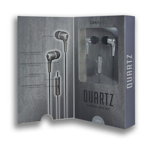 CoreAudio Quartz Earbuds with Mic Silver