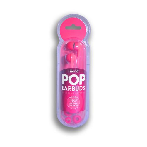iWorld POP Earbuds Pink