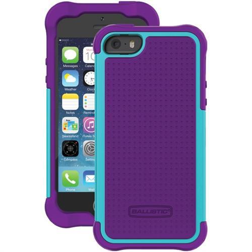 Ballistic Tough Jacket Hybrid Case for iPhone 5   5S Purple-Aqua