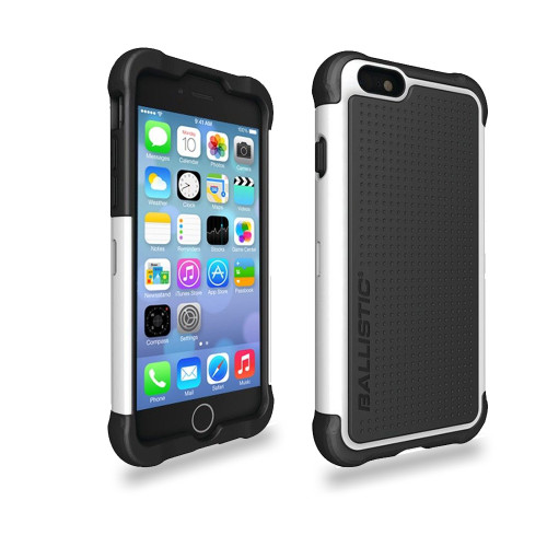 Ballistic Tough Jacket Hybrid Case for iPhone 6 | 6S Black-White