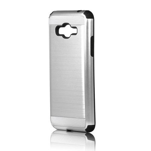 Hard Pod Hybrid Case for Samsung Galaxy S7 Sliver-Black