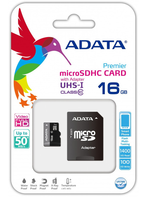 ADATA MicroSD 16 GB Class 4 RA1