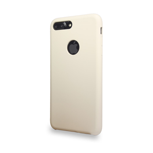 Liquid Silicone Deluxe Hard Skin for iPhone 7/8 Ivory