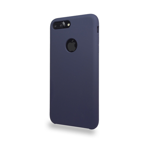 Liquid Silicone Deluxe Hard Skin for iPhone 7/8 Storm Blue