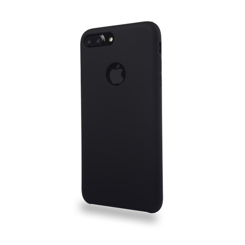 Liquid Silicone Deluxe Hard Skin for iPhone 7/8 Plus Black