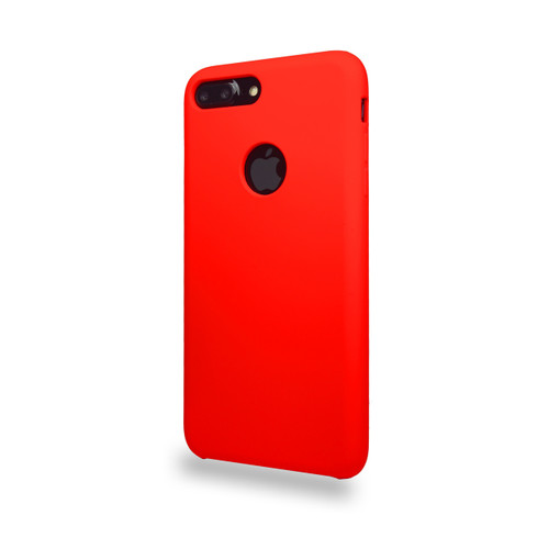 Liquid Silicone Deluxe Hard Skin for iPhone 7/8 Plus Red