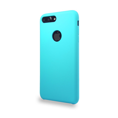 Liquid Silicone Deluxe Hard Skin for iPhone 7/8 Plus Blue