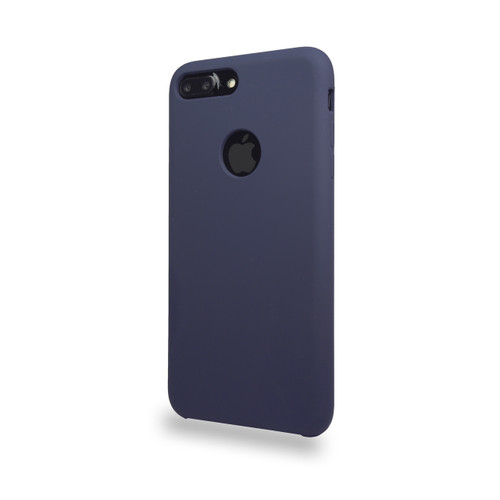 Liquid Silicone Deluxe Hard Skin for iPhone 7/8 Plus Storm Blue