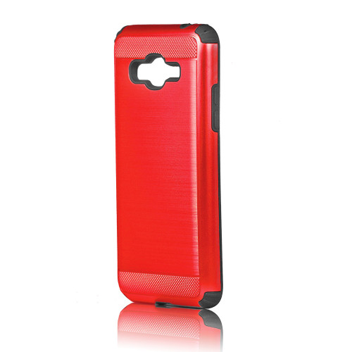 Hard Pod Hybrid Case for LG Stylo 3 Red-Black