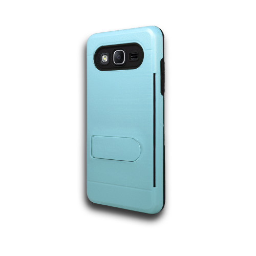 ID Ultrathin Hybrid Case with Kickstand for LG K20 Baby Blue
