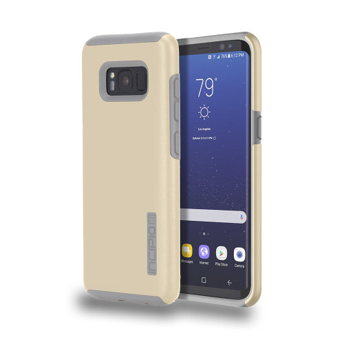 INCIPIO - DualPro Case for Samsung Galaxy S8  Champagne/Gray