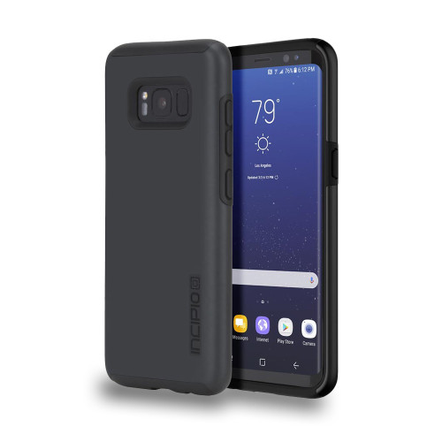 INCIPIO - DualPro Case for Samsung Galaxy S8  Iradescent Black/Black