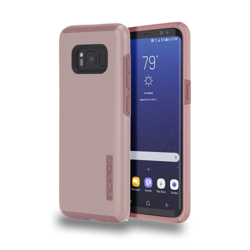 INCIPIO - DualPro Case for Samsung Galaxy S8  Iridescent Rose Gold