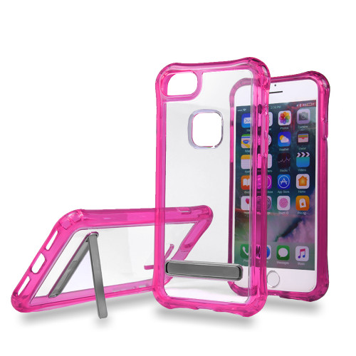 Mado Skin Case with Kickstand for Samsung S8 Clear-Pink
